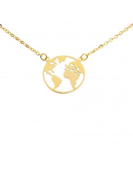 18ct Yellow Gold the world Children's Pendant
