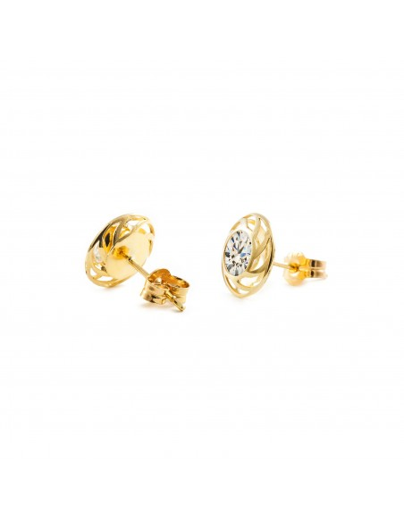 9ct Yellow Gold round Children's Earrings