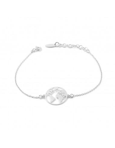 925 Sterling Silver the world bracelet