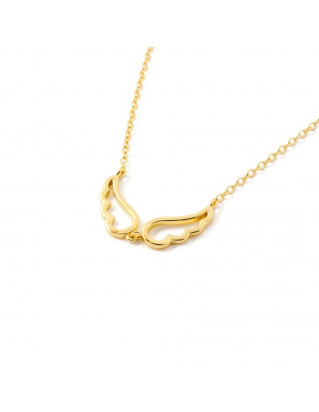 925 Sterling Silver Golden wings necklace