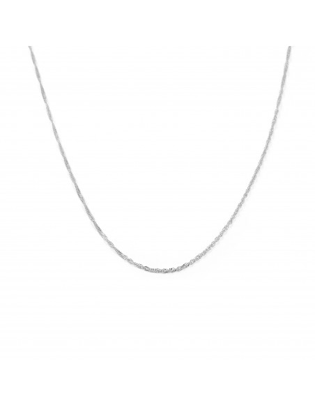 18ct White Gold Singapore chain (40 cm)