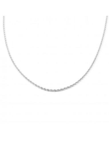 18ct White Gold Chain Salomonic