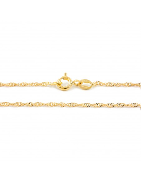 18ct Yellow Gold Singapore chain (40 cm)