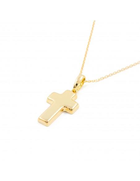 18ct Yellow Gold rectangular Cross