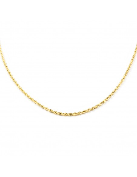18ct Yellow Gold Chain Salomonic 1.65 mm (50 cm)