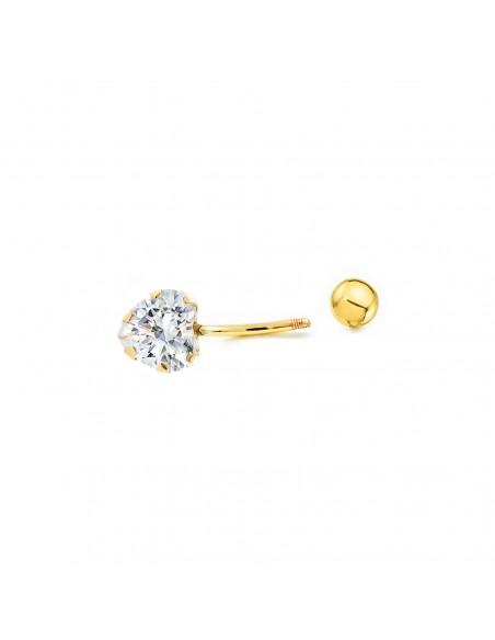18ct Yellow Gold heart zircon navel Piercing
