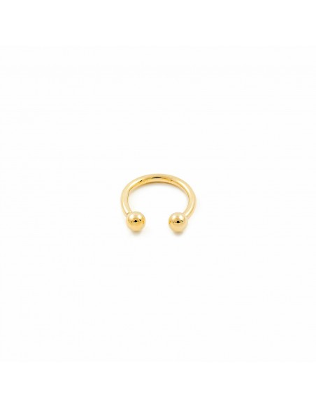9ct Yellow Gold Piercing Barbell double ball 3 mm