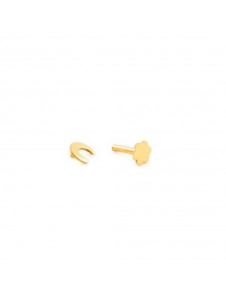 9ct Yellow Gold moon 4 mm cartilage Piercing