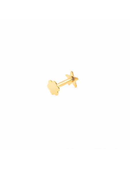 9ct Yellow Gold star 4 mm cartilage Piercing