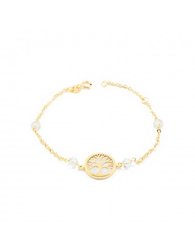 18ct Yellow Gold Life Tree nacre Children's Bracelet