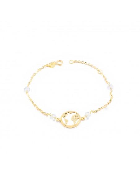 18ct Yellow Gold the world Children's Bracelet
