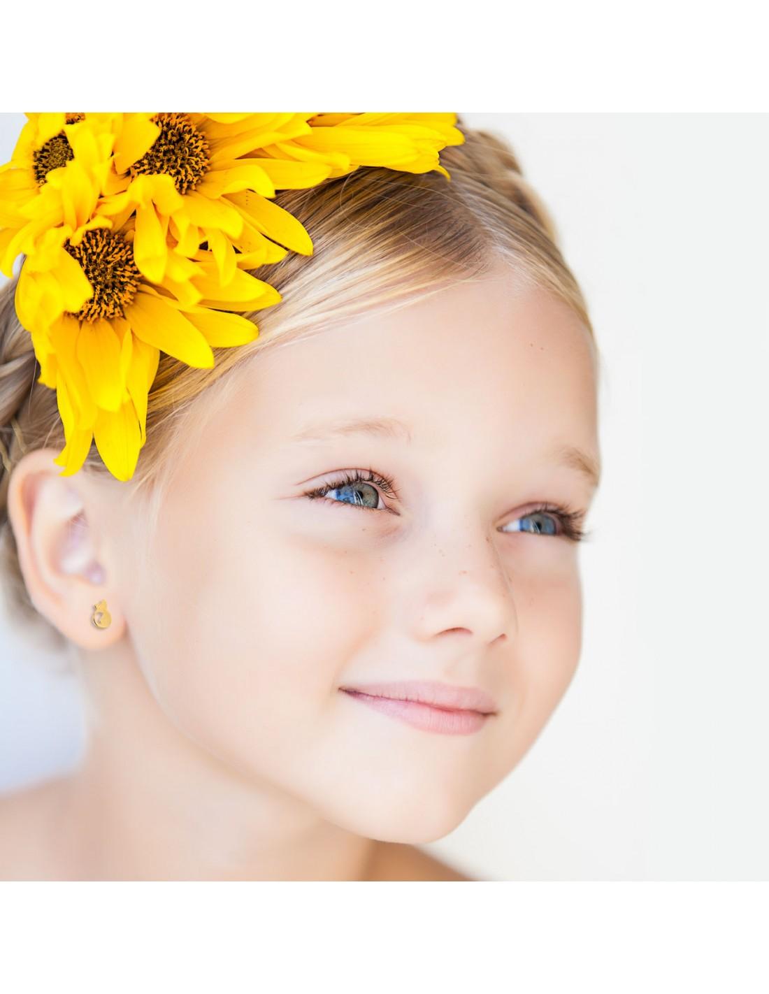 Pendentif Enfant chat nacre Or Jaune 9 Carats