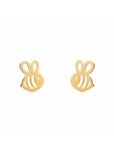 9ct Yellow Gold bee Children's Earrings
