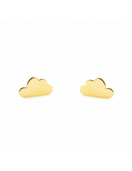 9ct Yellow Gold cloud Children's Earrings