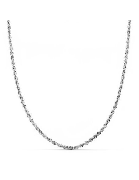 18ct White Gold Chain Salomonic
