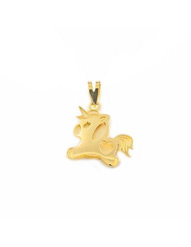 9ct Yellow Gold Unicorn Children's Pendant