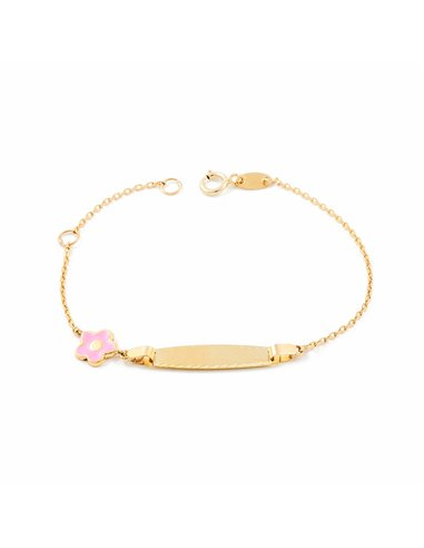 9ct Yellow Gold Baby flower Bracelet