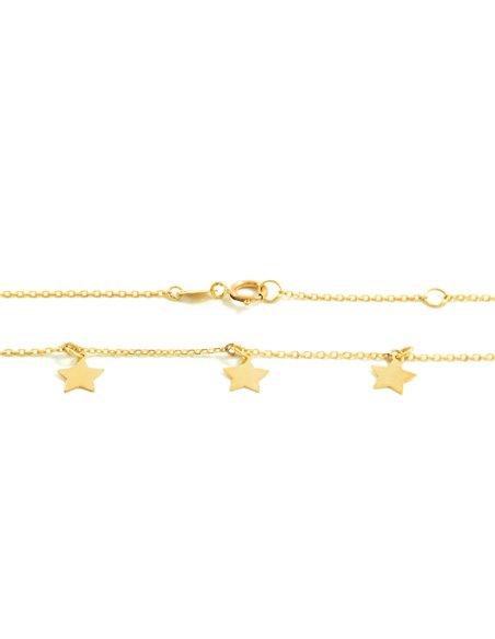 9ct Yellow Gold stars Children's Pendant