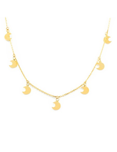 9ct Yellow Gold moons Children's Pendant