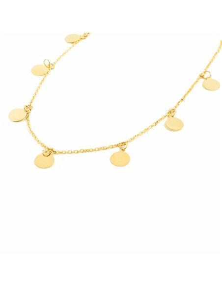 9ct Yellow Gold circles Children's Pendant