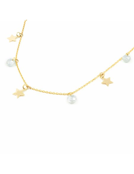 Damen & Kinder Sterne mit Zirkonen Anhänger - Gelbgold 9 Karat (375)