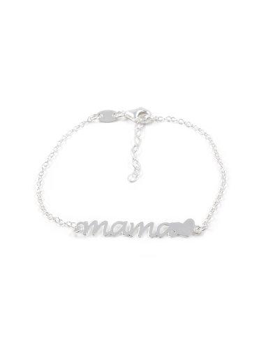 925 Sterling Silver mama heart bracelet