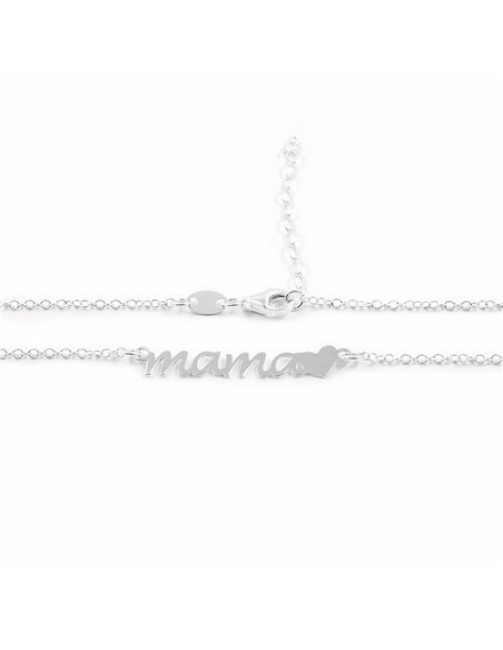 925 Sterling Silver mama with heart necklace