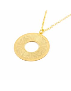 925 Sterling golden Silver circle necklace