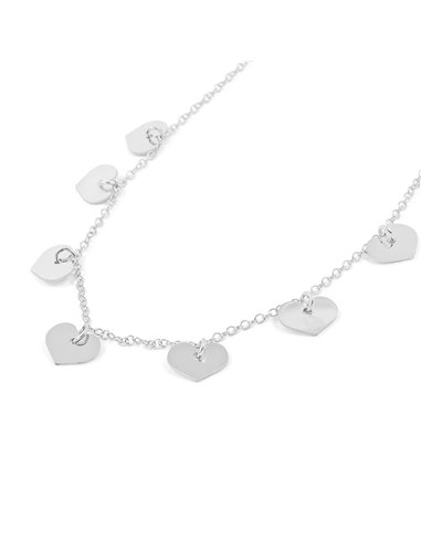 925 Sterling silver hearts necklace
