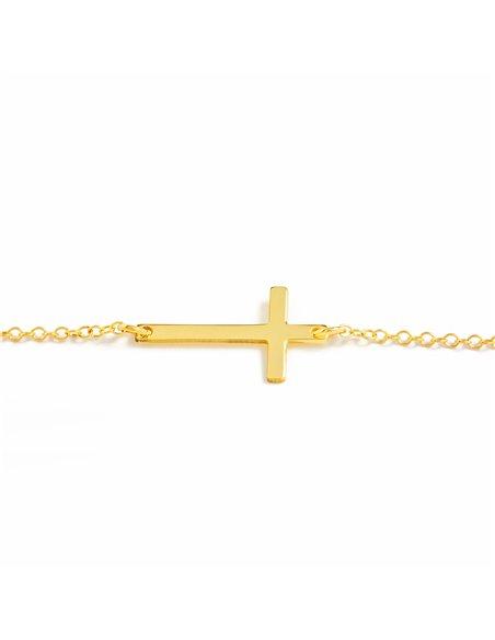 925 Sterling Silver cross bracelet