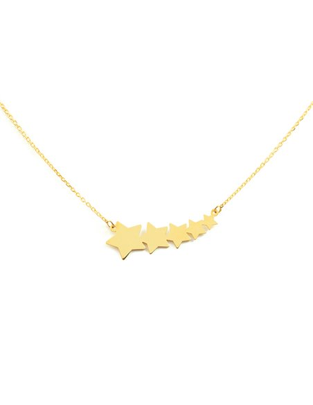 9ct Yellow Gold stars Children's Pendant