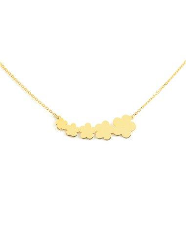 9ct Yellow Gold daisies Children's Pendant