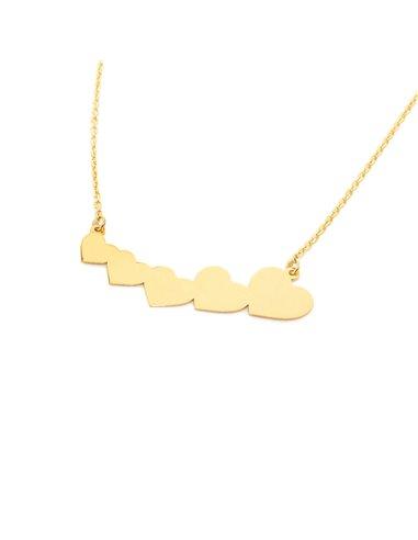 9ct Yellow Gold hearts Children's Pendant