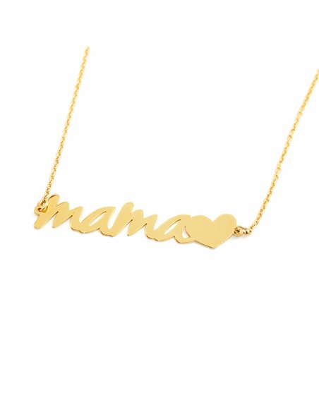 9ct Yellow Gold mama heart Children's Pendant