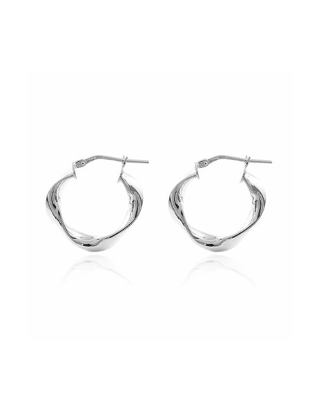 925 Sterling Silver Round Hoop 21x4 mm Earrings