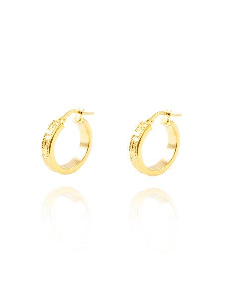 925 Sterling golden Silver Round Hoop 19x4 mm Earrings