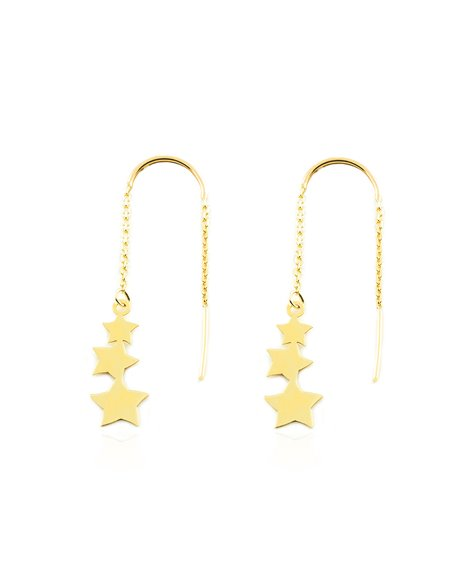 9ct Yellow Gold chain with stars Earrings