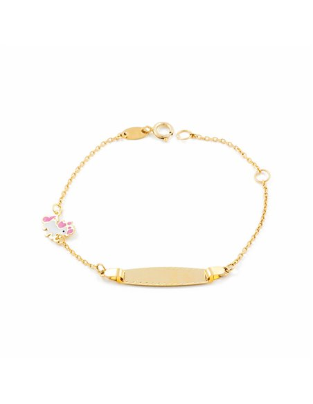 9ct Yellow Gold Baby Unicorn Bracelet