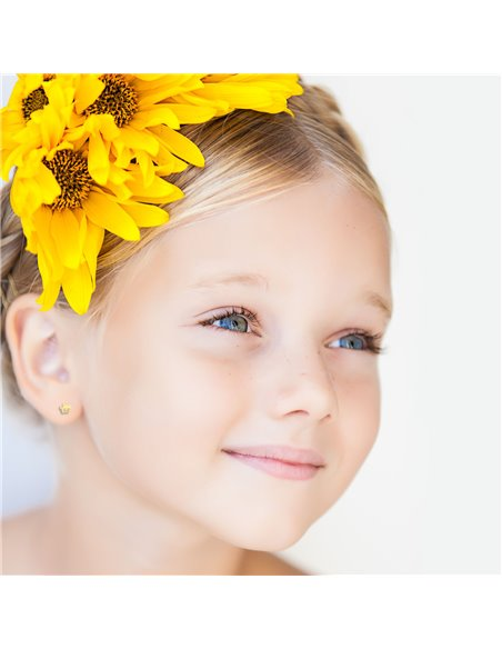 9ct Yellow Gold Daisy flower Children's Earrings