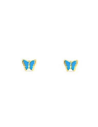 9ct Yellow Gold butterfly Children's Earrings