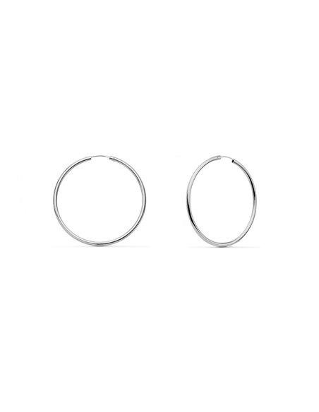 18ct White gold hoop Earrings