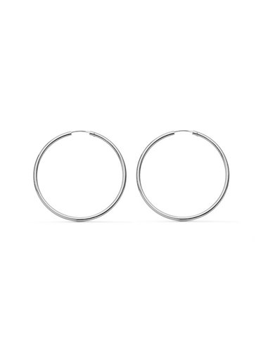 18ct White gold hoop Earrings