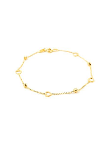 Bracciale per bambini cuore - oro giallo 18k (750)