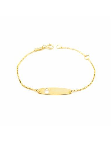 9ct Yellow Gold star bracelet