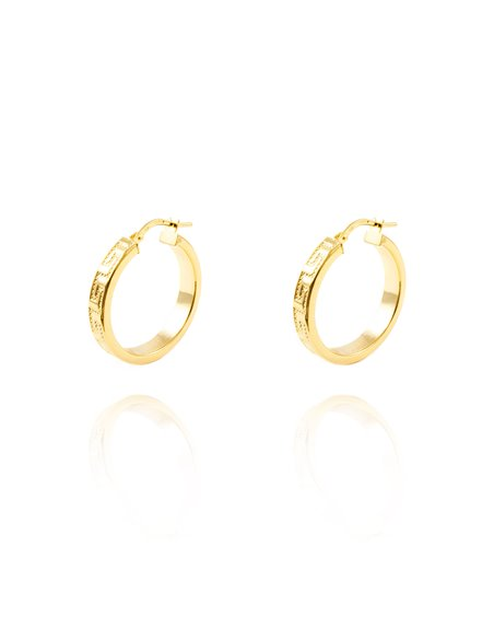 18ct Yellow Gold hoop Earrings 23x4 mm