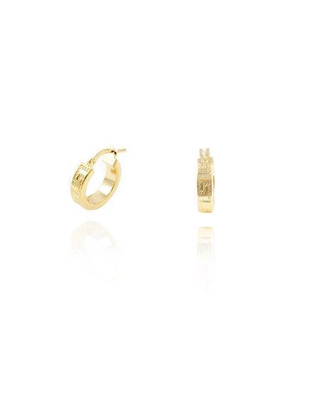 18ct Yellow Gold hoop Earrings 13x4 mm