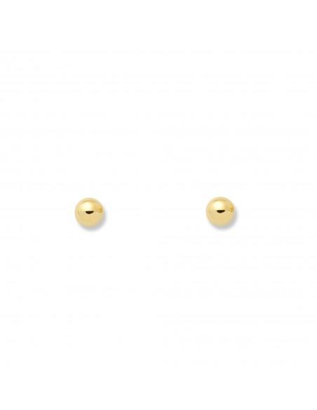 Pendientes de Bola Lisa 2,5 mm
