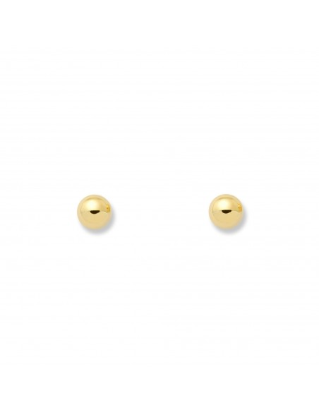 18ct Yellow Gold round ball Children's Earrings