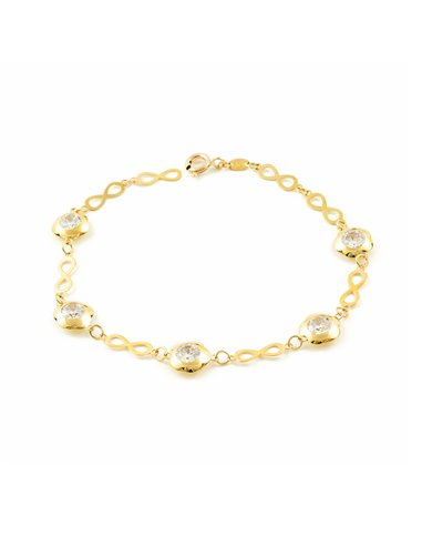 Bracelet infini avec marguerites