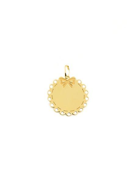 9ct Yellow Gold brightness tie Children's Pendant